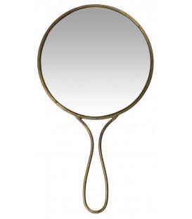Miroir à Main Rond en Laiton Vieilli - Ib Laursen