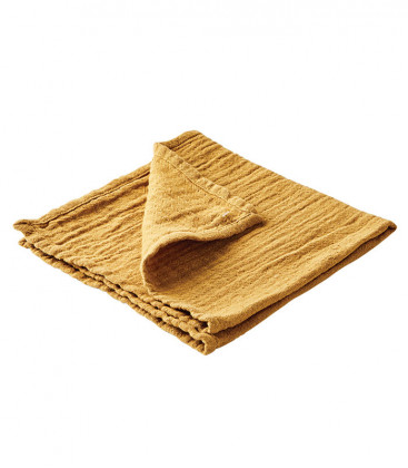 ELSA Serviette de table en coton couleur Moutarde - AFFARI