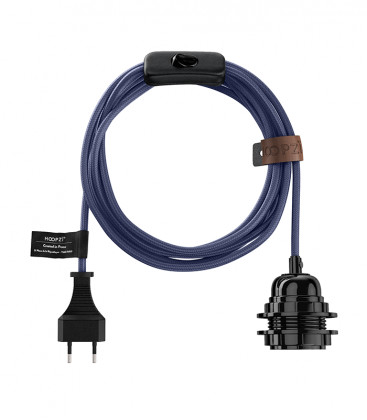 Cordons et fils électriques en tissus E27 avec interrupteur 4,5m (16 coloris) - HOOPZI