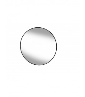 Miroir rond cerclé métal noir LOOP Diam 40cm - Red Cartel