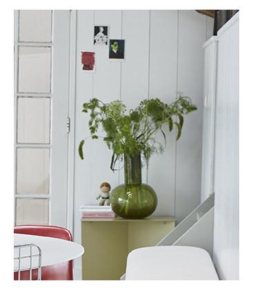 Vase en verre soufflé coloris vert - HK Living