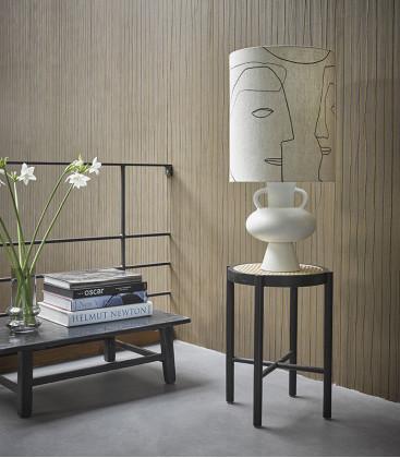 Pied de lampe à poser conique en grès blanc - HK Living