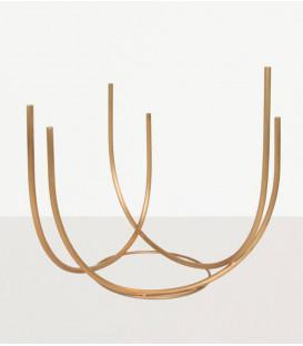 Vase doré à tubes - URBAN NATURE CULTURE