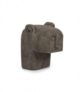 Statuette en grès sculptée à la main H8.5cm - BAZAR BIZAR