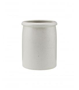 Pot à ustensiles PION Gris/Blanc - HOUSE DOCTOR
