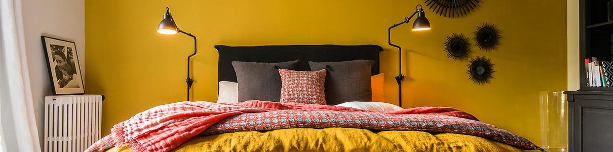 linge de maison harmony impression lin. Black Bedroom Furniture Sets. Home Design Ideas